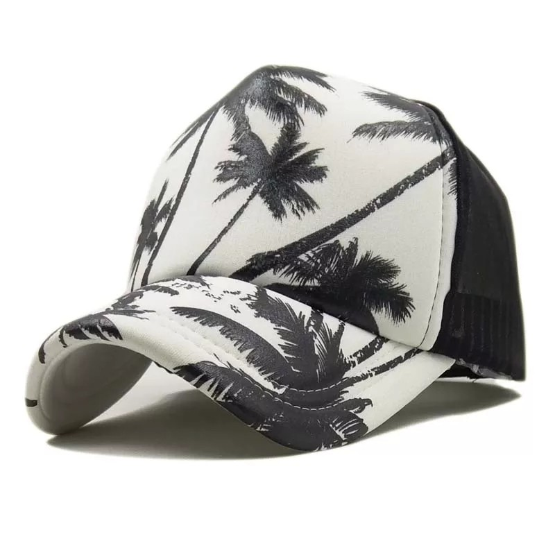 8e55f38d357 🆕! Hawaii USA 🇺🇸 White Beach Holiday Trucker Cap  OK