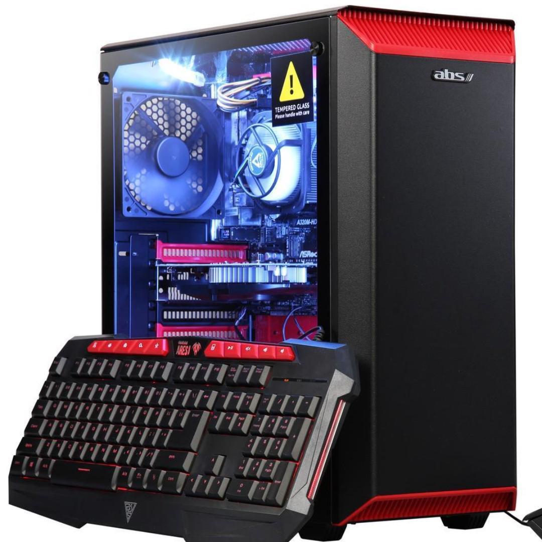 ABS Eclipse NVIDIA GeForce GTX 1050 2 GB AMD Ryzen 3 1200 (3.10 GHz) 8 GB DDR4 1 TB HDD Windows 10 Home 64-Bit Gaming PC ALA086