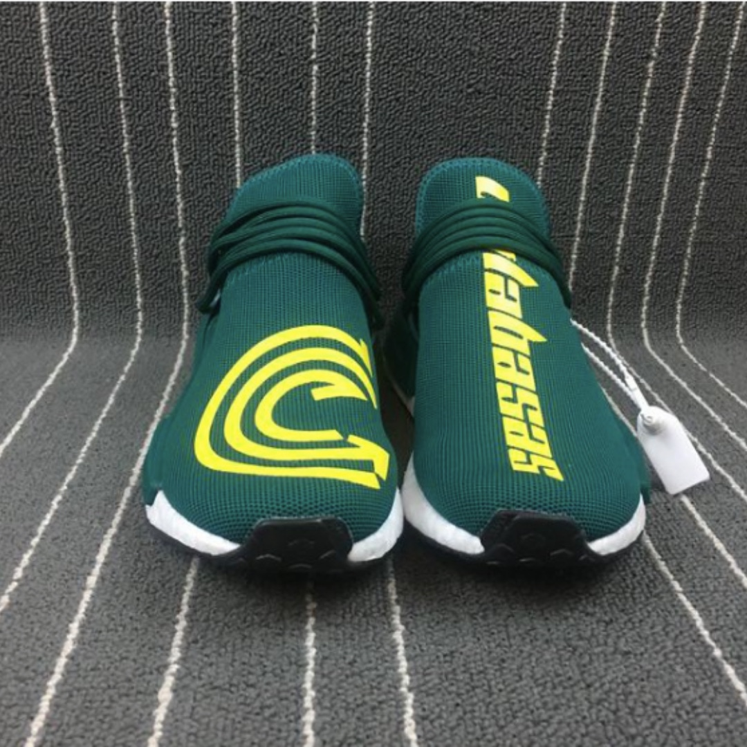 88e5790b6d2ca Adidas Pharrell Williams Human Race NMD Custom Cosmic Design Green ...