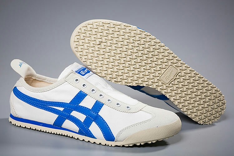 on sale c7d6a 4ce81 Authentic Onitsuka Tiger Slip On White/ Royal Blue on Carousell