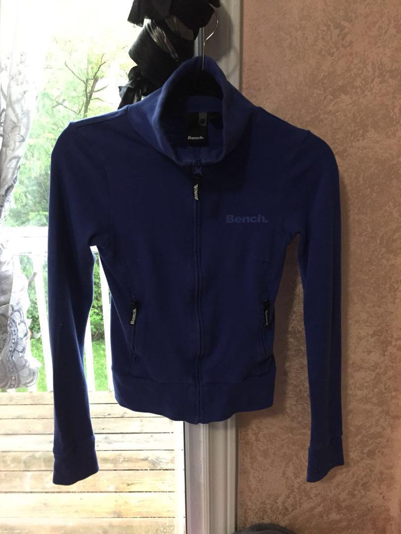 Bench Blue Zip Up Long Sleeve Shirt XS
