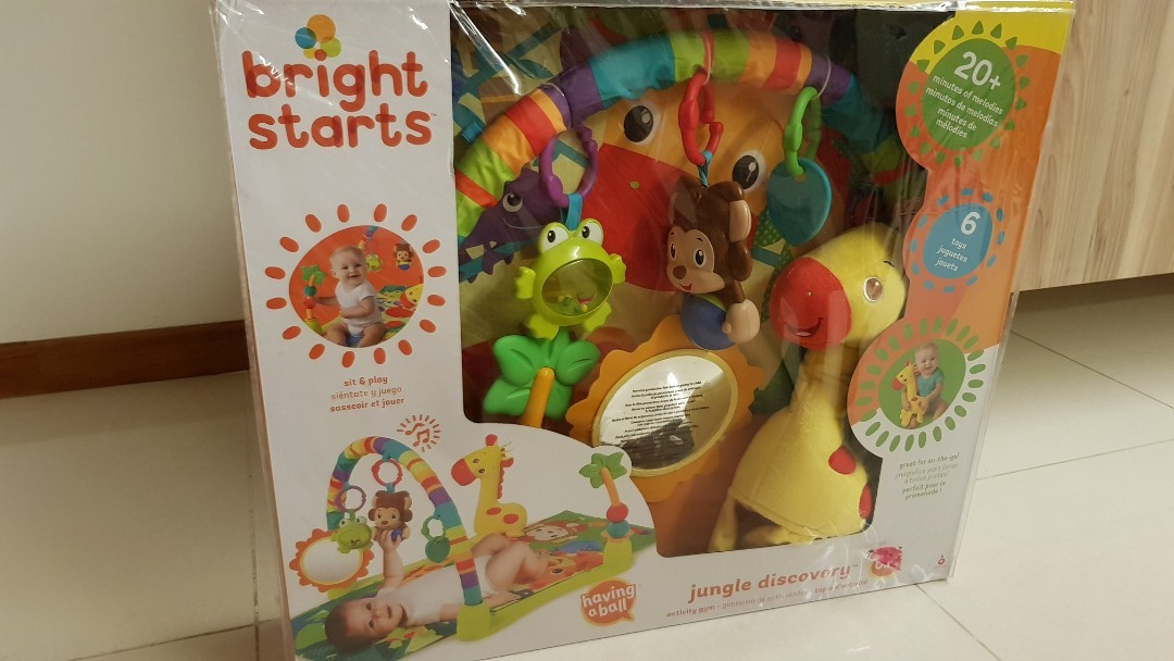 BNIB Bright Starts Jungle Discovery Play Gym and Mat., Babies & Kids ...