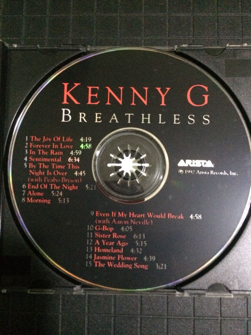 Cd 6 Kenny G Breathless Vintage Collectibles Vintage