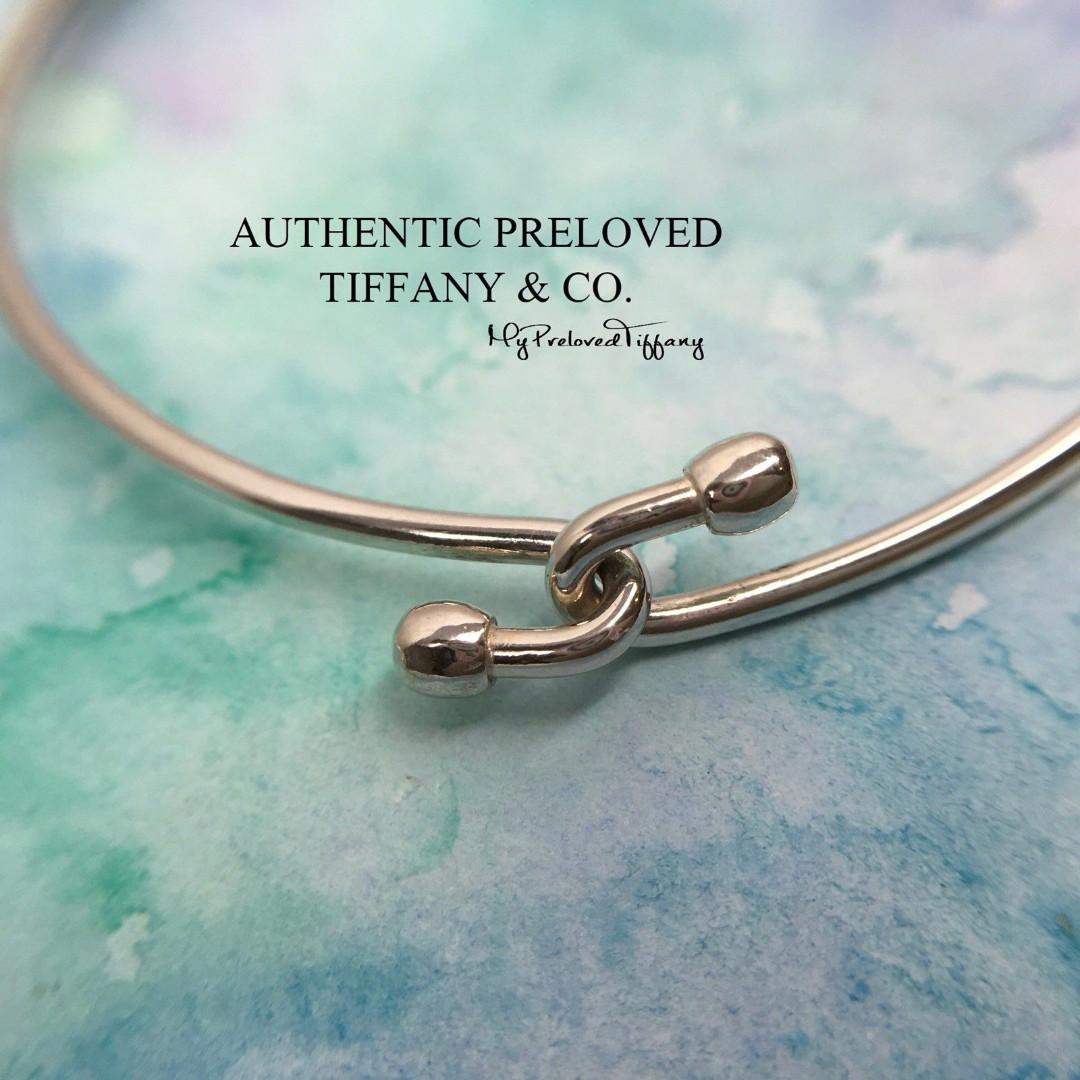 311d6dc0a Excellent Authentic Tiffany & Co. Wire Bracelet Silver Bangle ...