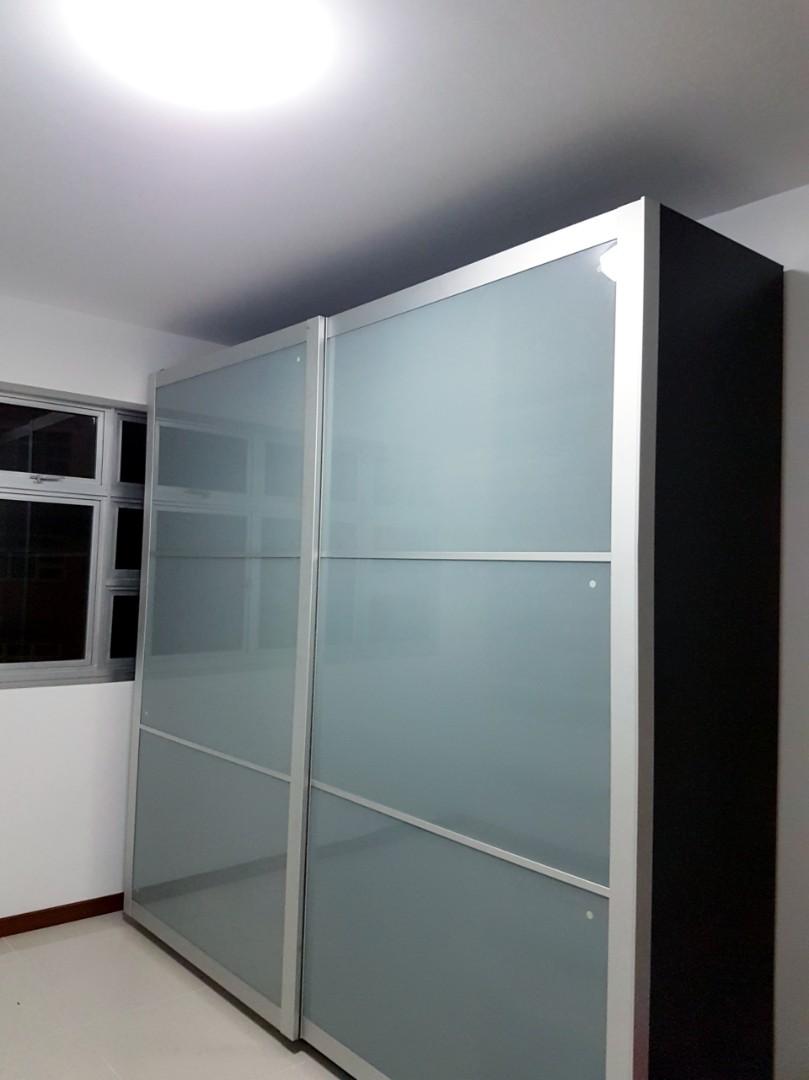 IKEA Wardrobe (250 cm length x 240 cm height x 60 cm b), Furniture ...