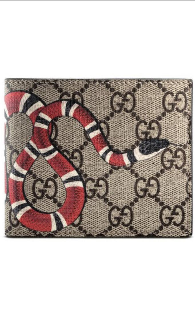 d6d29f2d052b Kingsnake print GG Supreme wallet GUCCI, Luxury, Bags & Wallets ...