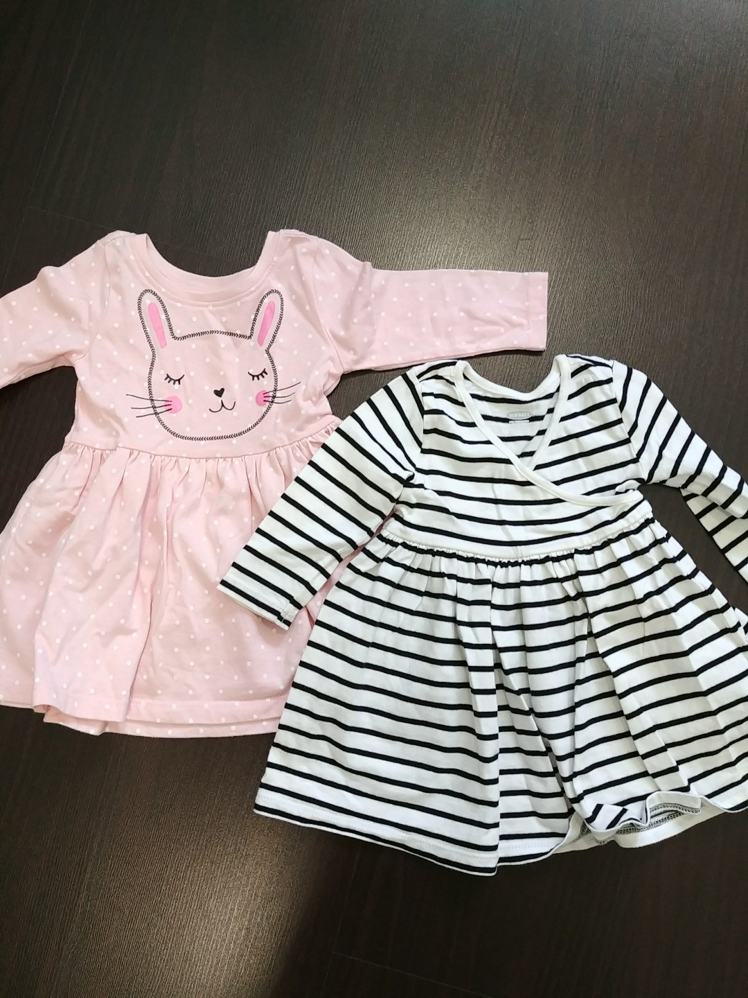 c8d74c0f9fa5 Lot of 2 old navy long sleeved dresses for baby girl 3-6 months ...