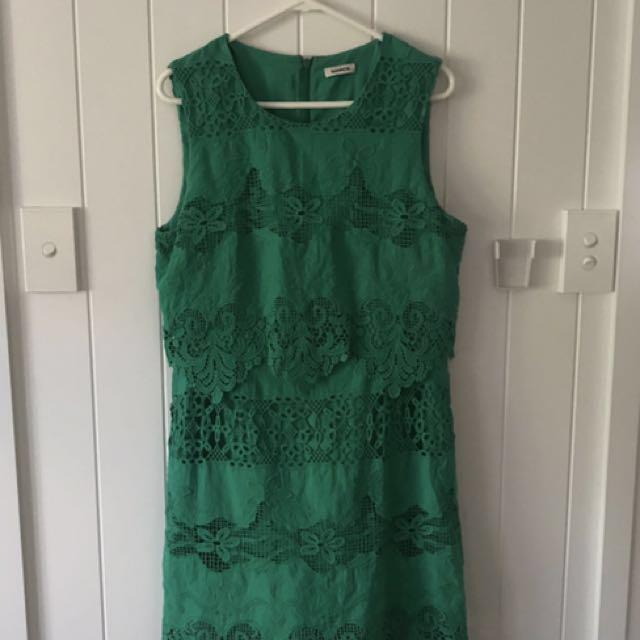 Marcs Green Lace Dress