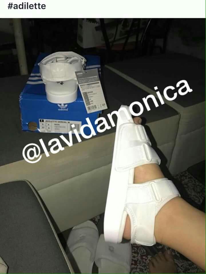 Adilette Women's Sandals 0 Cloudfoam 2 Fashion Adidas Preloved New qwpSgg