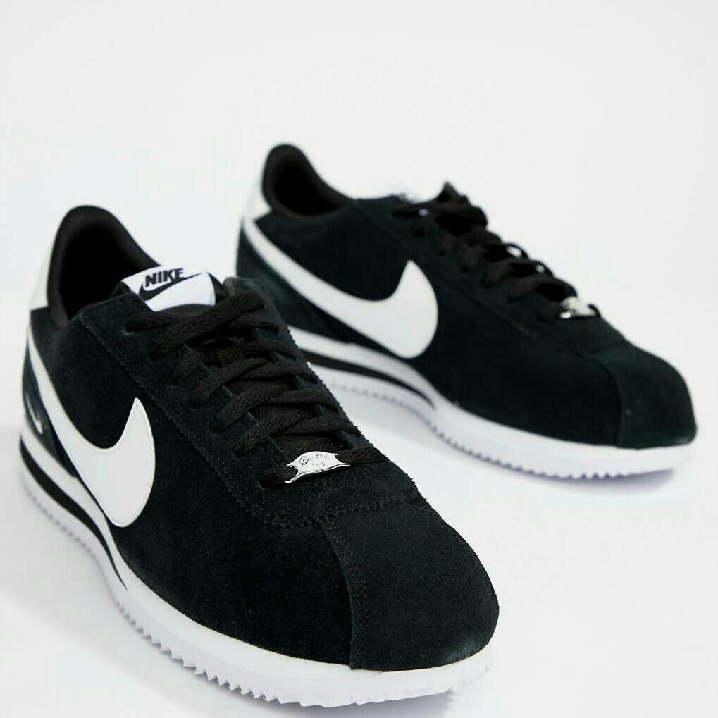 timeless design 12fa0 f9217 Nike Cortez Suede Black/White, Men's Fashion, Footwear ...