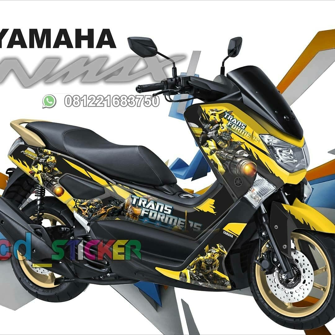 Nmax bumblebee decal cuatom motorbikes on carousell
