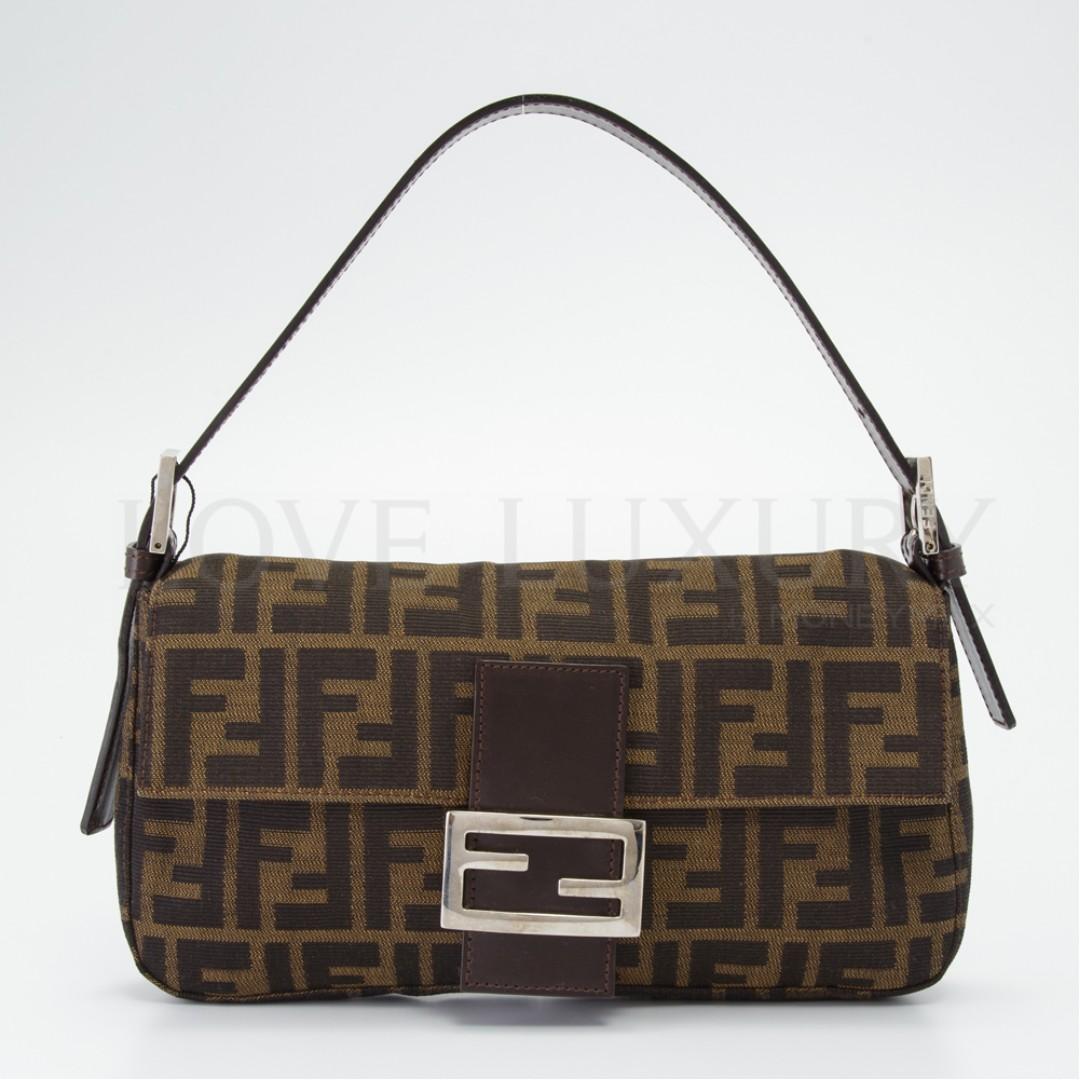 a4b50d4353 ... canada preowned fendi zucca baguette shoulder bag 2321 pob0006121 63304  c3433