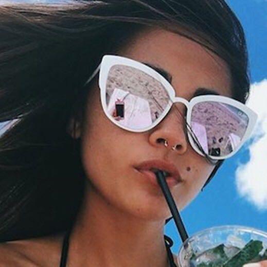 5a0cd7e119 Quay Australia Supergirl Cat Eye Mirror Sunglasses