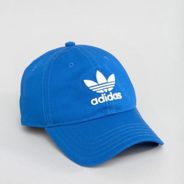 f6523978 Adidas Original Trefoil Cap / Hat in Blue BK7271 OSFM ( One Size Fit ...