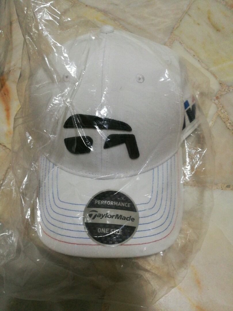 TAYLORMADE TOUR AUTHENTIC IRON WHITE P-790  M4 HAT ADJUSTABLE CAP ... a141882a948