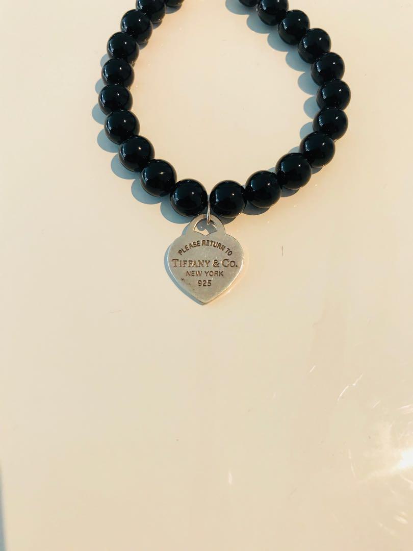 Tiffany & Co Onyx Bead Bracelet