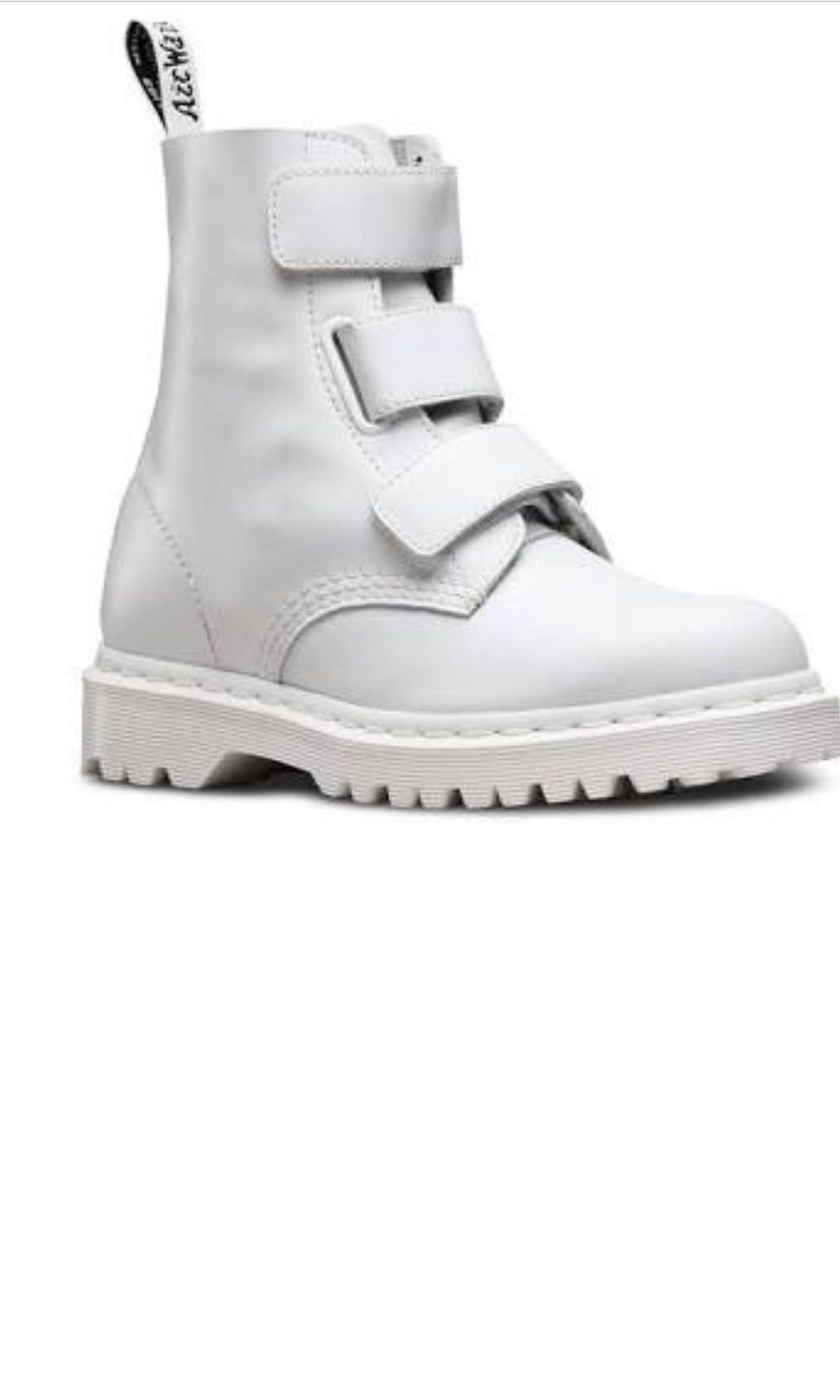 dr martens hvid coralia støvler sale