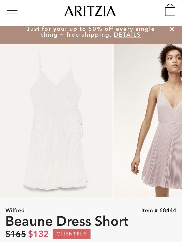 WILFRED Beaune Dress (Short) in Oak size S