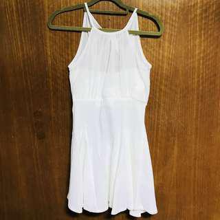 CLEARANCE - BNWT White Halter Dress