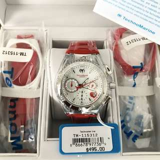 Technomarine Love Red 3 Strap Set