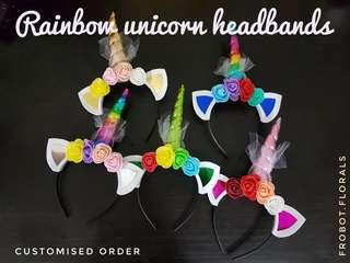 Rainbow Unicorn Headband Hairband