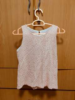 Pink peach Lace TOP