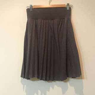 🚚 日牌The Emporium氣質灰色百褶裙-材質適合冬天喔