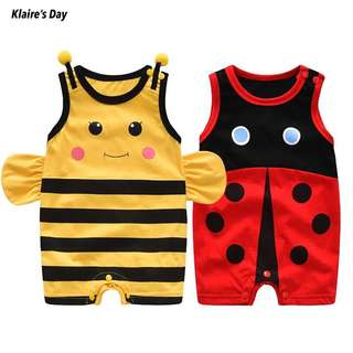 Cute Yellow Bumble Bee Red Lady Bug Onesie Romper #babydivision