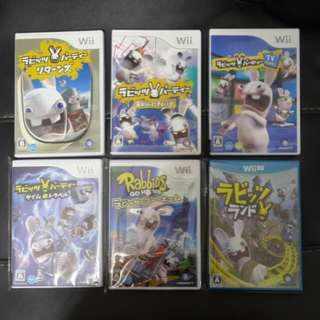 ((中古)) 日版 - Wii WiiU Rabbids 賤兔全集 共六隻 (Wii U Nintendo 任天堂 UBISOFT 瘋狂兔子 雷曼兔 Rayman Raving Rabbids)