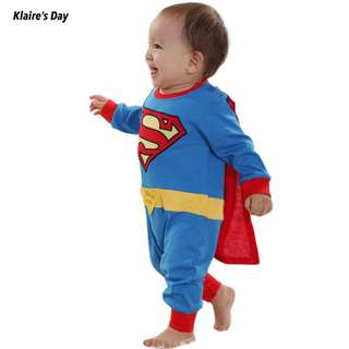 DC Superhero Superman Pajamas Long Sleeve Onesie Romper #babydivision