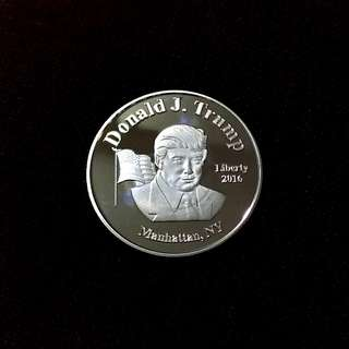 Donald Trump President Of United States Of America Silver plated Coin