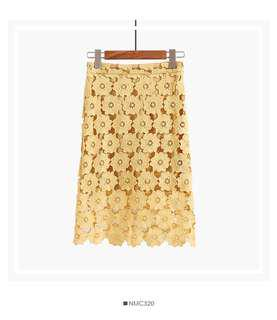 🆕 Floral Lace Skirt