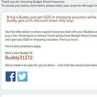 Buddy ID for Budget Direct Insurance 5% Discount / Promo Code