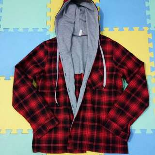 Hooded Checkered Jacket