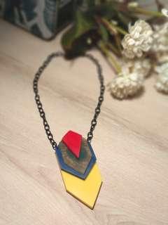 Geometric vibrant colors necklace