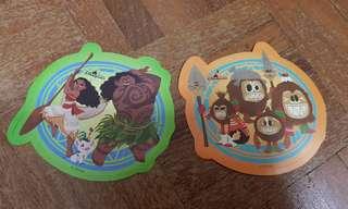 Disneyland Moana and Kakamora Stickers