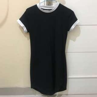 White black dress