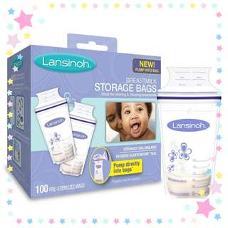 🚚 Lansinoh Breastmilk Storage Bags - 100 pcs