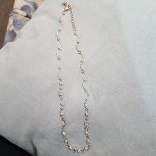 *SOLD* Wavy Rhinestone Necklace