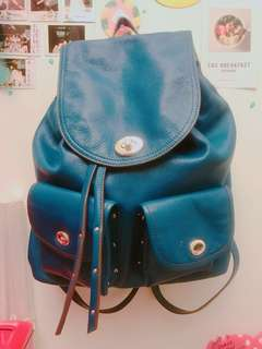 [Miki 宅之心情不好,隨便賣]COACH 經典款復古藍皮革後背包