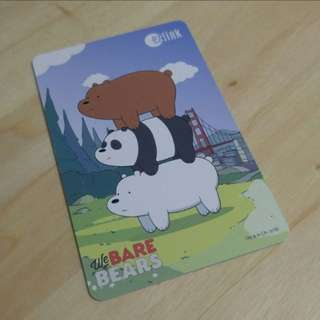 We Bare Bear Ezlink Card