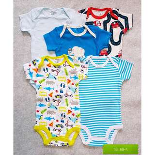 🚚 [5pc set] BNIS 100% Cotton Carter's Love 5 piece Bodysuits Pack [3-6 months]