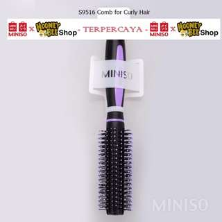 Japan Quality - Sisir Ungu curly Miniso Import Purple Comb