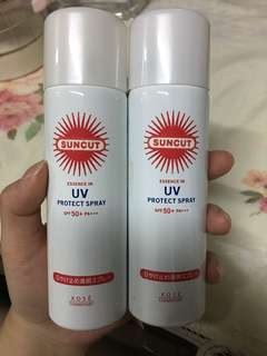 suncut防曬噴霧50g+50g(二手)