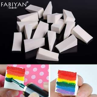16Pc/Lot Soft Triangle Nail Art Transfer Sponge Gradient Coloring Stamping Stamper DIY Paint Image Stamp Foam Polish Gel UV Tool