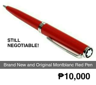 Brand New and Original Montblanc Red Pen