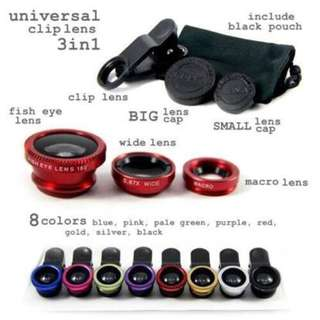 FISH EYE UNIVERSAL CLIP LENS 3IN1