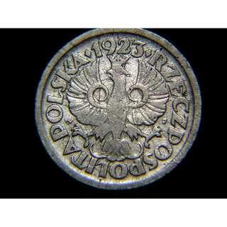 1923年波蘭共和國(Poland)大鷹國徽10格羅茲鎳幣(獨立初期)