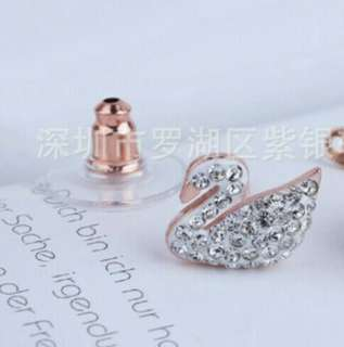 925 Silver Swan Earrings The Symbol of Love (Pre-order)