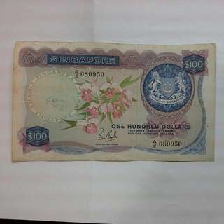Singapore $100 Orchid Note